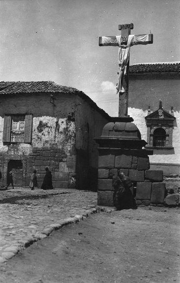 Restes de murs incas.