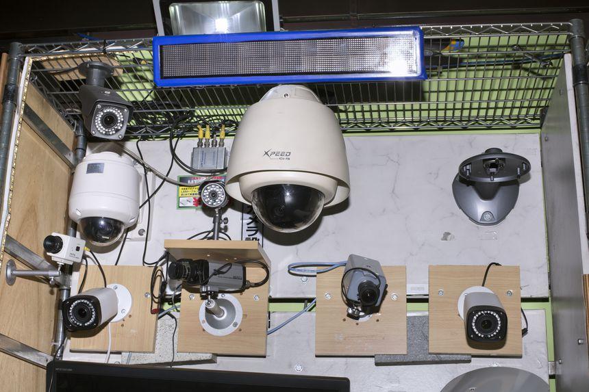 Security cameras street business, Tokyo