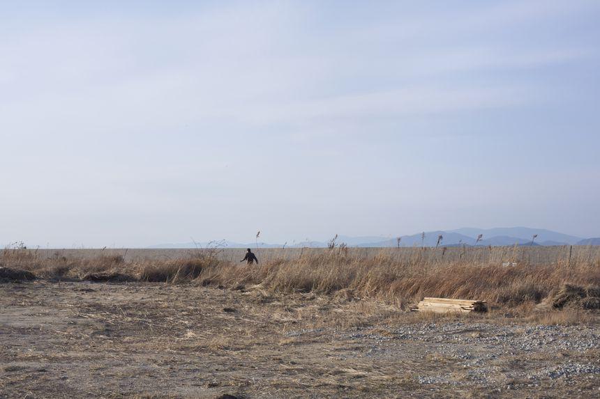 Landscape with a man, Imabari, Ehime, Shikoku
