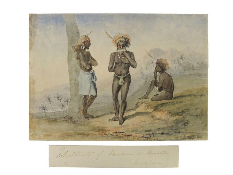 Trois hommes, Aneytum, Vanuatu