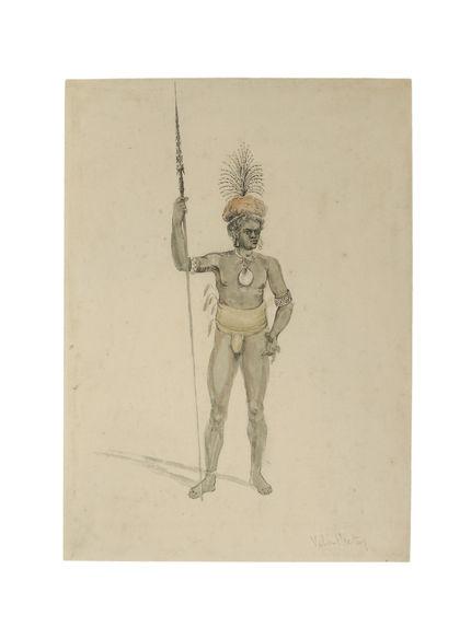 Portrait d'un guerrier, Efaté, Vanuatu