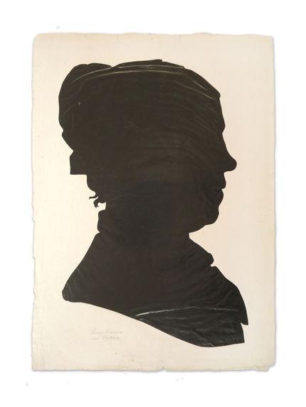 Portrait à la silhouette de Lucie Barras, née Hostern