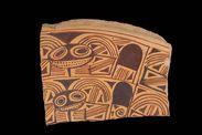 Fragment de poterie décorée