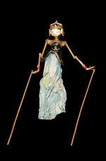 "Marionnette de ""wayang golek"" : Drupadi"