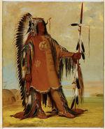 Portrait de Mah-To-Toh-Pa (Les quatre Ours), chef des Mandan