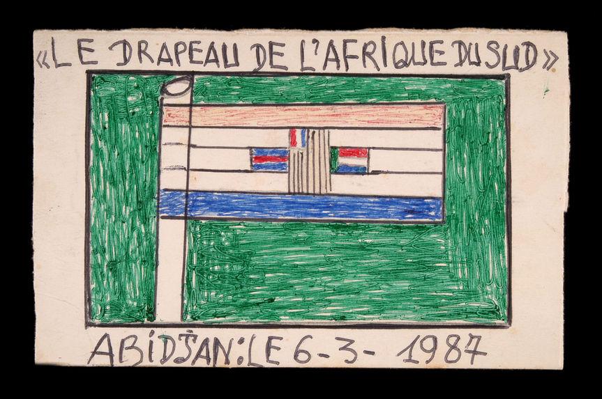Dessin : Le drapeau de l'Afrique du Sud