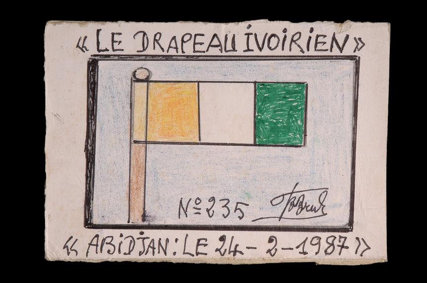 Dessin : Le drapeau ivoirien