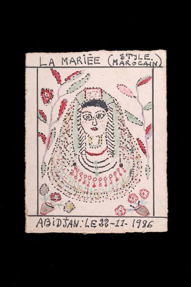 Dessin : La mariée (style marocain)