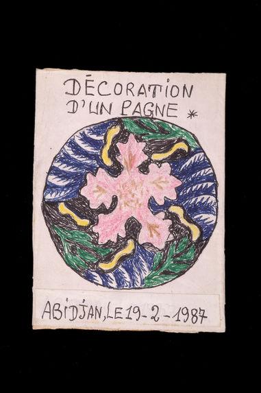 Dessin : Décoration d'un pagne