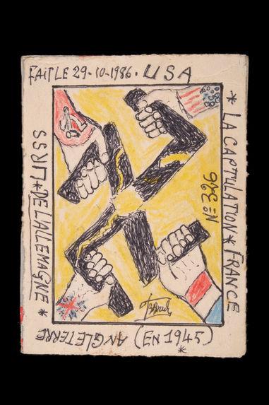 Dessin : La capitulation de l'Allemagne (en 1945)