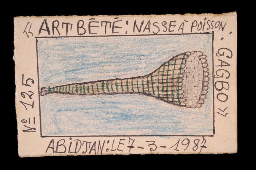 Dessin : Art Bété : nasse à poisson : Gabo