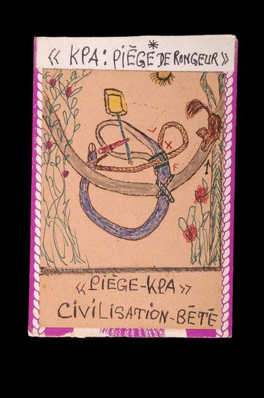 Dessin : Civilisation Bété / Kpa : piège de rongeur / Piège-Kpa