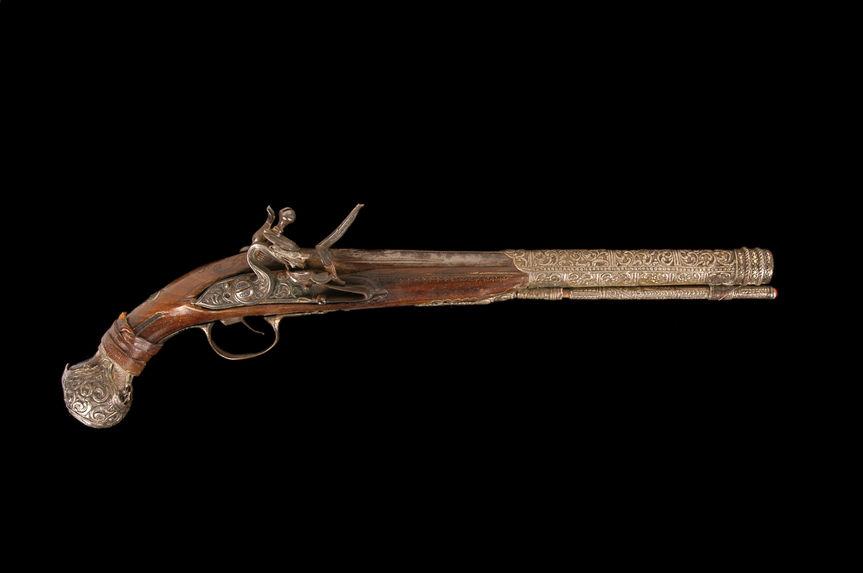 Pistolet d'arçon à silex