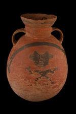 Vase à décor anthropomorphe et géométrique