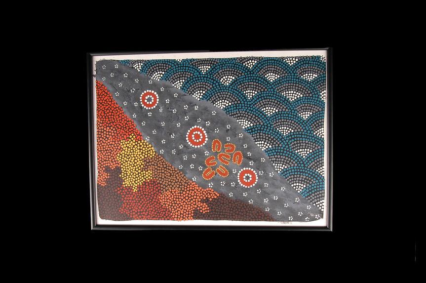 """Peinture acrylique """"Rêve de la voie lactée et des sept soeurs&quot"""