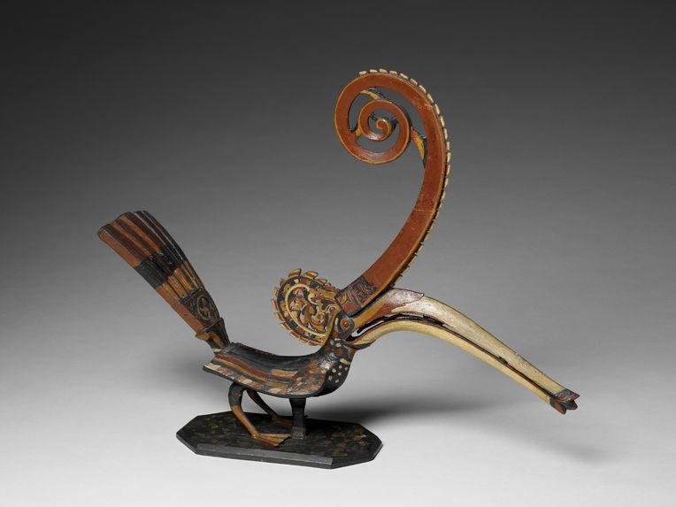 Sculpture représentant un calao