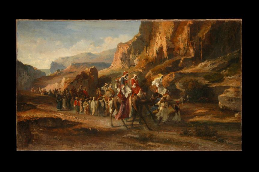 Caravane dans les montagnes
