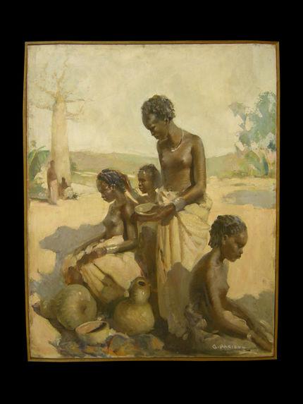 Femmes malgaches à leur toilette