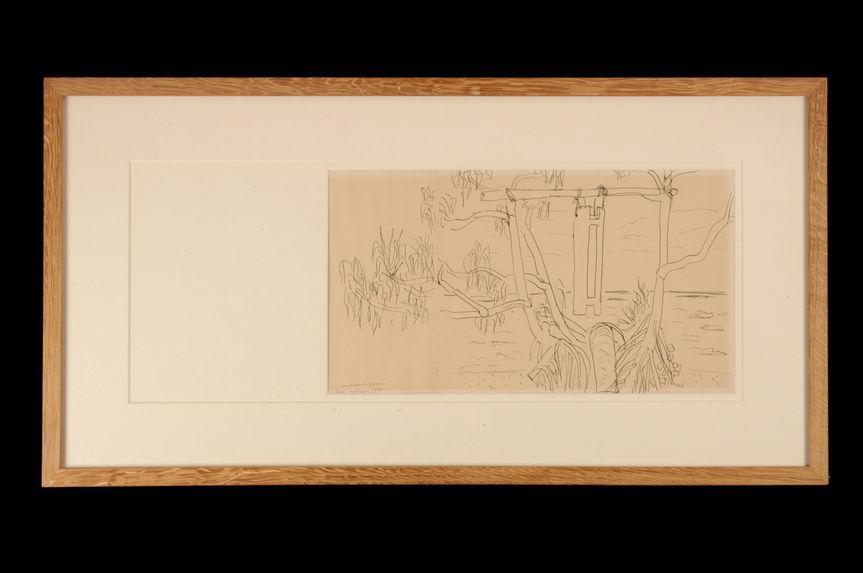 Tambour de guerre (recto) et Pandanus (verso)