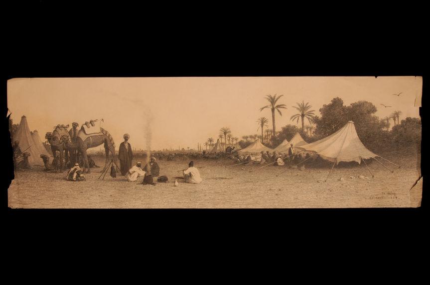 Halte de caravane près du Caire