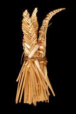 Elément de masque rituel zoomorphe : pointe en vannerie (corne)