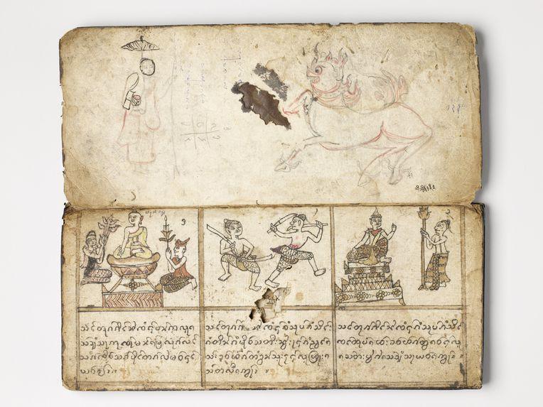 Manuscrit rituel illustré