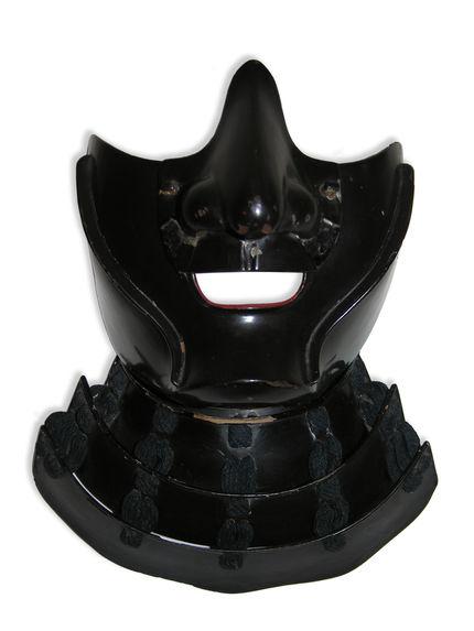 Elément d'armure de samouraï : masque à gorgerin