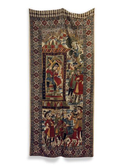 Tenture illustrant l'histoire de Bahram-e Gur et Fitnah