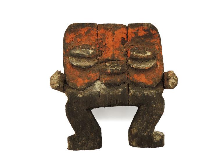 statuette anthropomorphe à deux faces