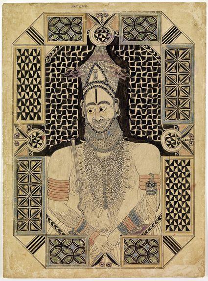 Recto: portrait en buste - verso: inscriptions et esquisse