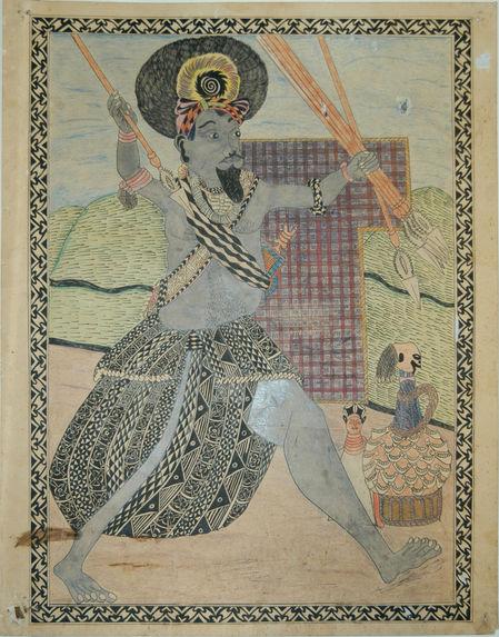 Ndam Mandu, guerrier en pied