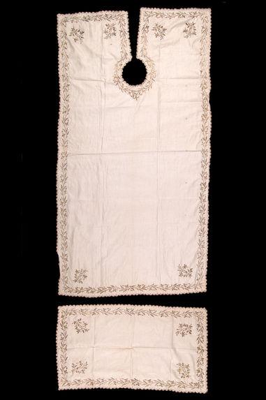 Tablier et serviette de rasage