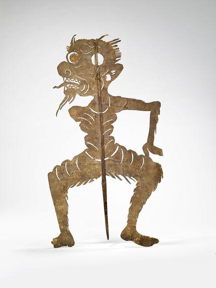 Figurine de théâtre d'ombres: esprit masculin (Phi Chin)