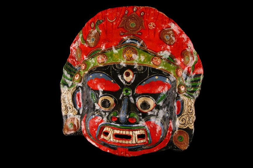 Masque figurant Kal Bhairava