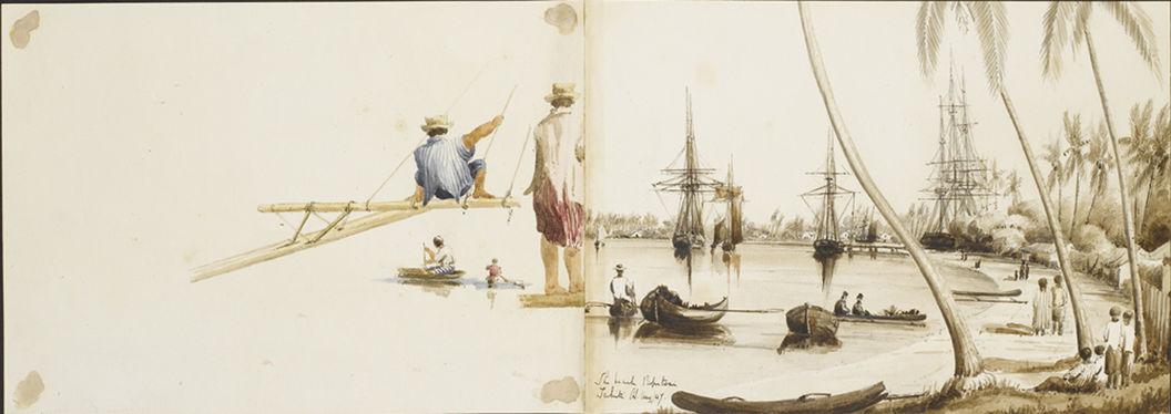 Détails de la navigation et la baie de Papeete