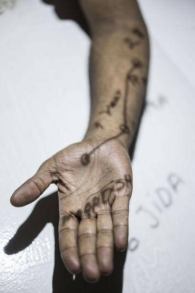 Body Maps : Workshop, Asad Ahmed 2, Rome, Refugee Scart