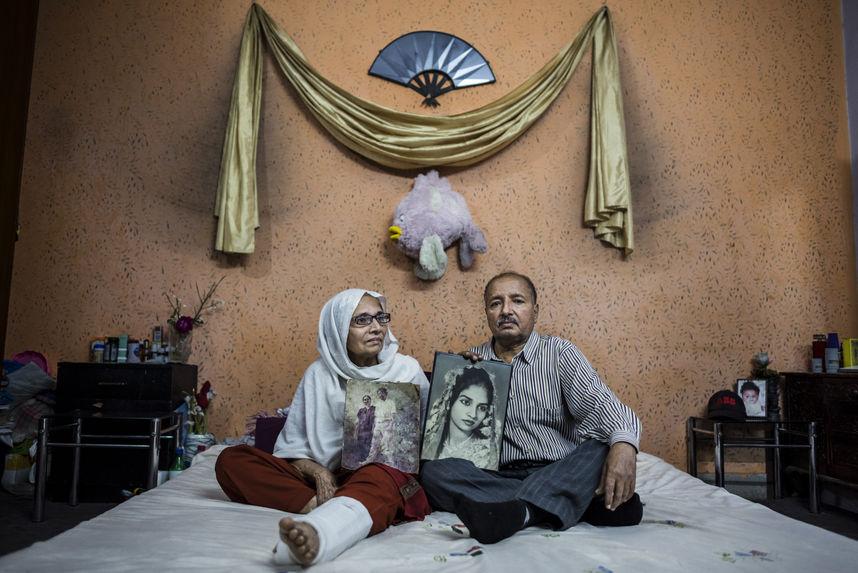 M. Asghar with his wife Taj