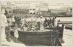 Casablanca. Les barcasses servant au débarquement