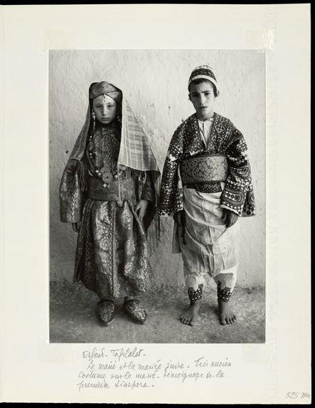Erfoud. Tafilalet. Le marié et la mariée juive.