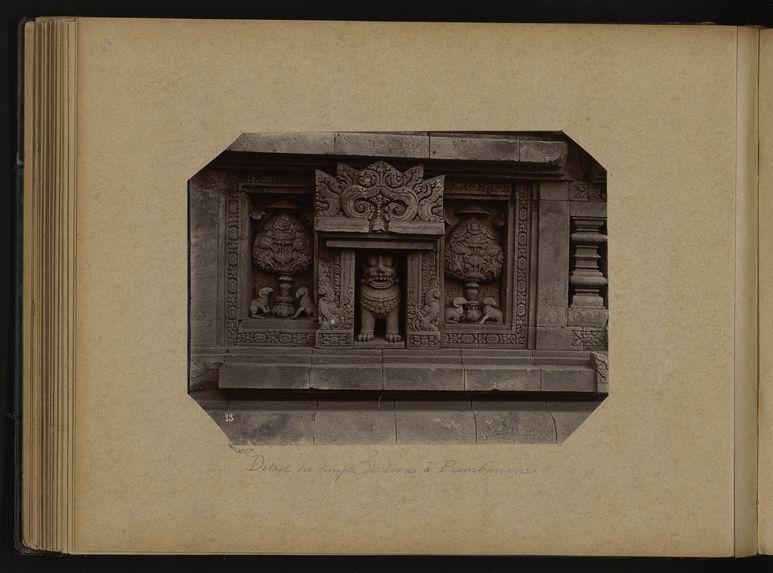 Détail du temple de Siva à Prembanan