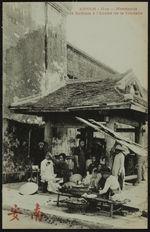 Marchands et barbiers à l'entrée de la Citadelle