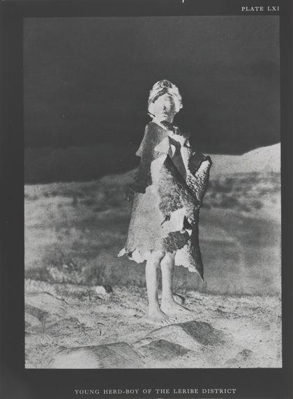 Bantou (tribu basotho du sud) jeune berger