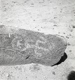 Bande-film de 3 vues concernant des gravures rupestres du Cerro San Simon...