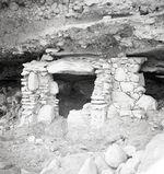 Bande-film de 3 vues concernant les vestiges d'un site archéologique [Revash ?]