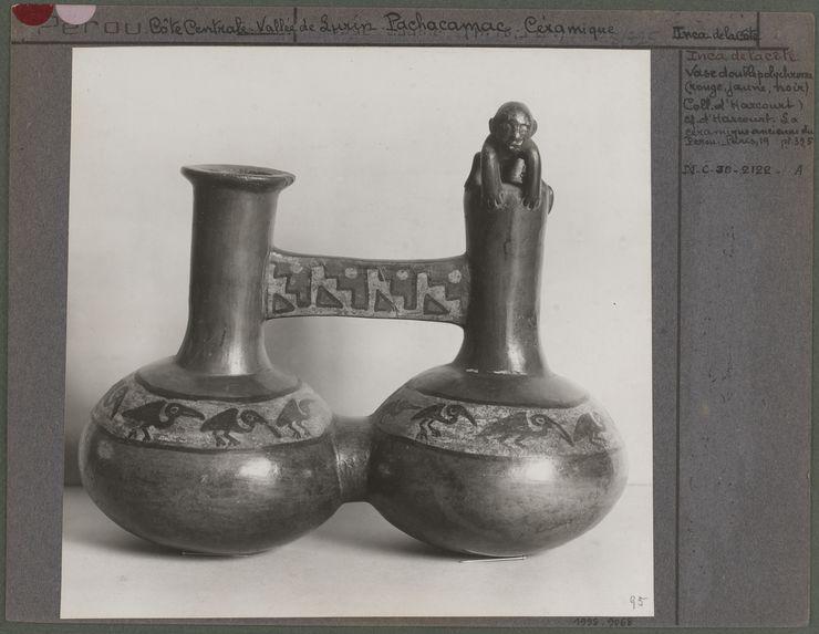 Vase double polychrome