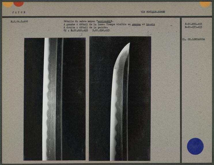 Détail de la pointe d'un sabre