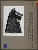 Robe en lin et coton noir et indigo