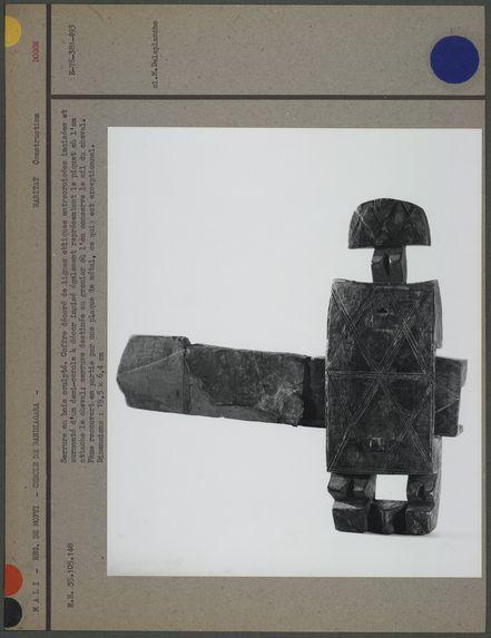 """Serrure """"dogon"""", en bois sculpté"""