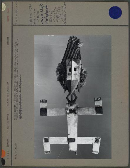 Masque double-croix en bois