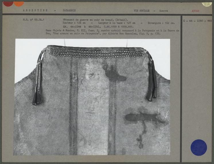 Vêtement de guerre en cuir de boeuf (détail)